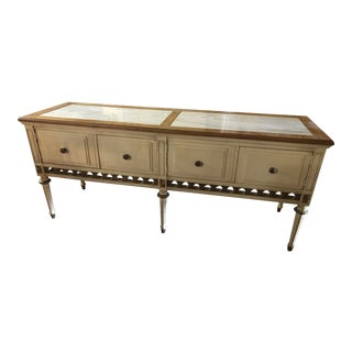 Anthony Furniture Marble Top Console Table For Sale