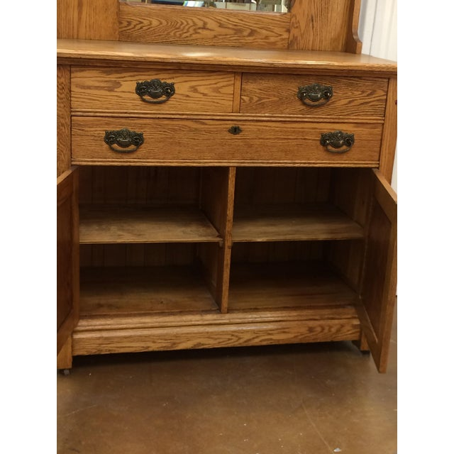 Vintage Oak Buffet - Image 4 of 6