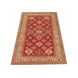Pakistan Kazak Wool Rug - 4'×5'8'' For Sale