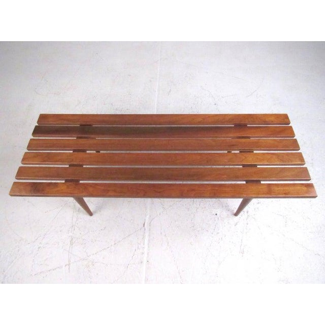 Mid-Century Modern Mid-Century Modern Slat Bench Coffee Table For Sale - Image 3 of 11