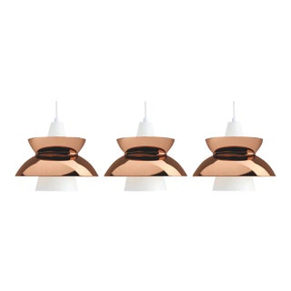 Jørn Utzon Copper 'Doo-Wop' Pendants for Louis Poulsen