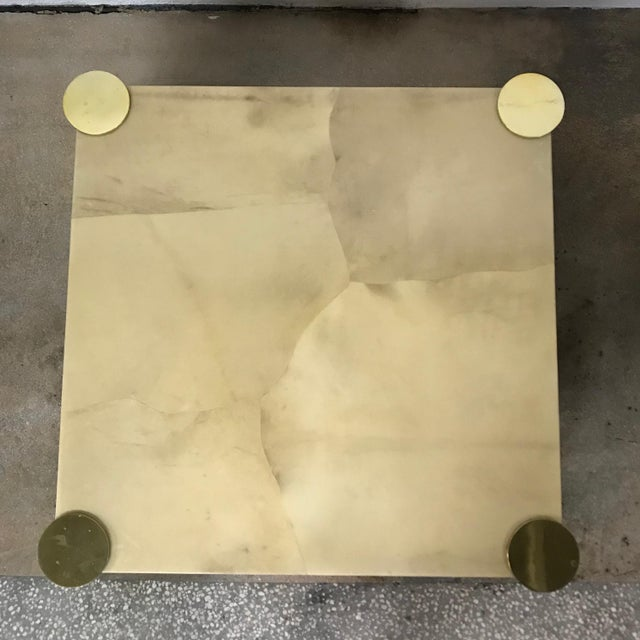 Enrique Garcel Goatskin and Brass Coffee or Cocktail Table For Sale In Miami - Image 6 of 13