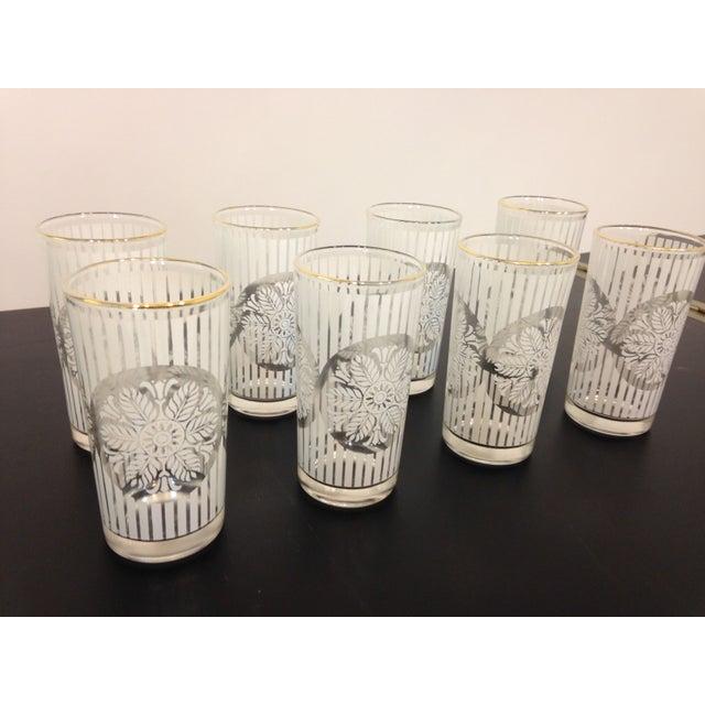 Gold Rimmed Snowflake Highball Glasses - Set of 8 - Image 3 of 4