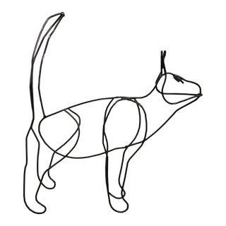 VIntage Wireframe Cat For Sale