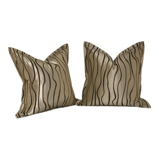 "Pair of 20"" Square Jim Thompson Pillows"