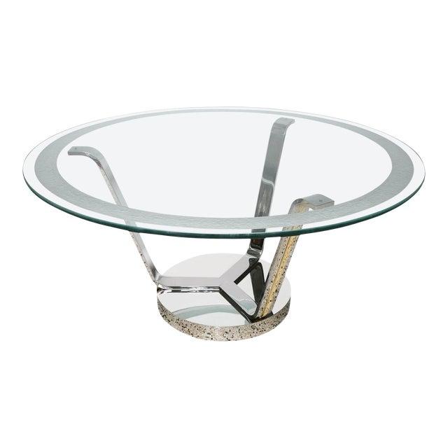 Vintage Karl Springer Round Dining or Center Table For Sale