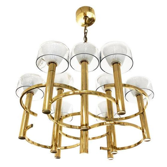 Gaetano Sciolari Gaetano Sciolari Brass Ceiling Light For Sale - Image 4 of 9