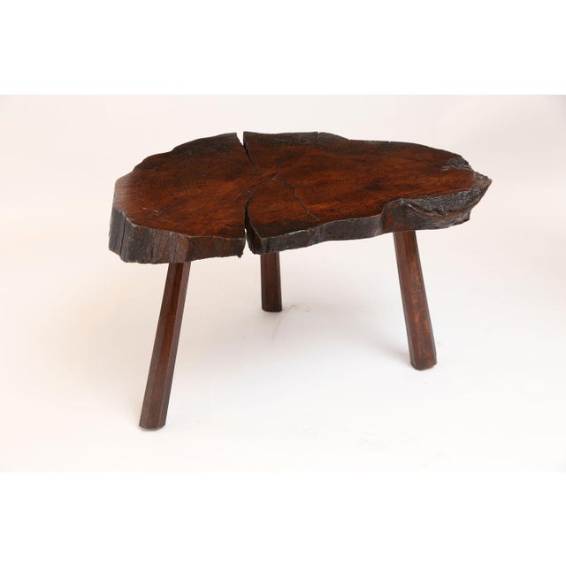 Vintage Tree Trunk Table For Sale - Image 4 of 13