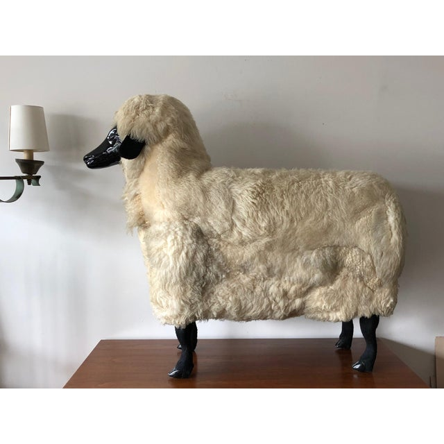 Modern Sheep Sculpture Ottoman in the Style of Lalanne For Sale - Image 3 of 10