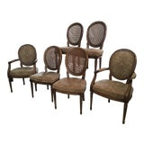 Image of Barbara Barry Style Henredon Cane Dining Chairs - Set of 6 For Sale
