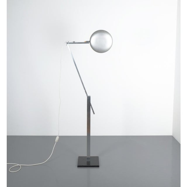 Articulate Aluminum Floor Lamp by Schliephacke for Mewa, Circa 1955 For Sale - Image 6 of 12