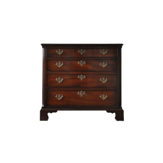 Kittinger Colonial Williamsburg Mahogany Chippendale 4 Drawer Chest For Sale