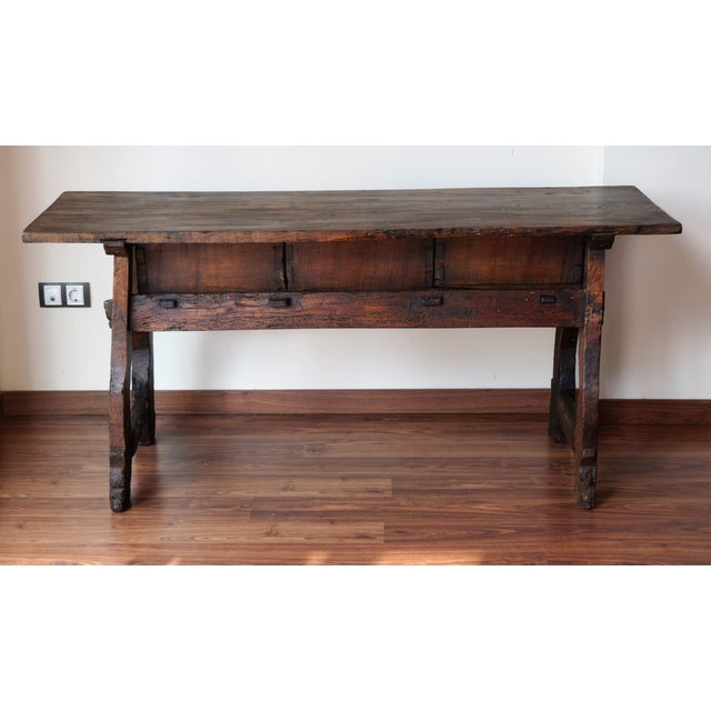 18th Spanish Refectory Table with Three Drawers - Image 8 of 8
