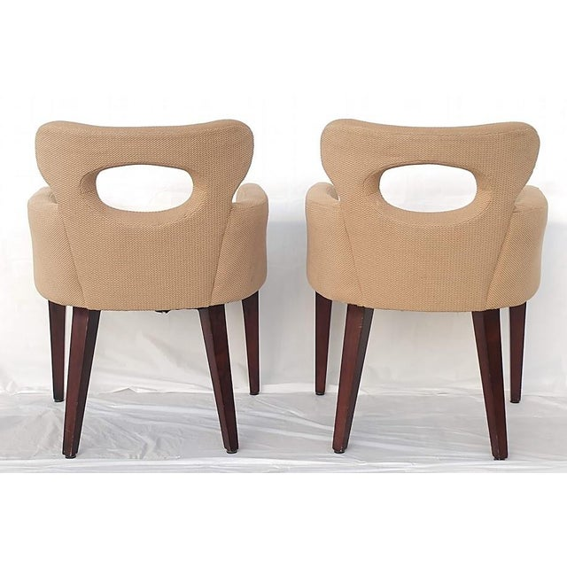 Mid-Century Modern Mid Century Mark David Design Masters Collection Pq1072 Accent Chairs- a Pair For Sale - Image 3 of 9