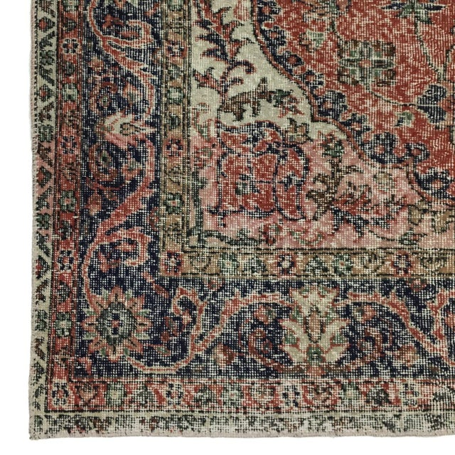 Rug & Relic, Inc. Vintage Distressed Turkish Carpet | 6'8 X 10'9 For Sale - Image 4 of 6