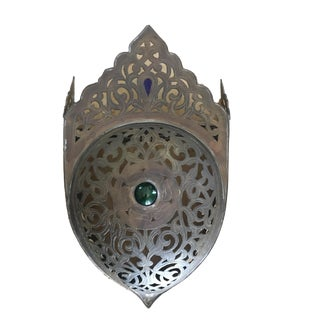 1970s Vintage Moroccan Brass Sconce For Sale