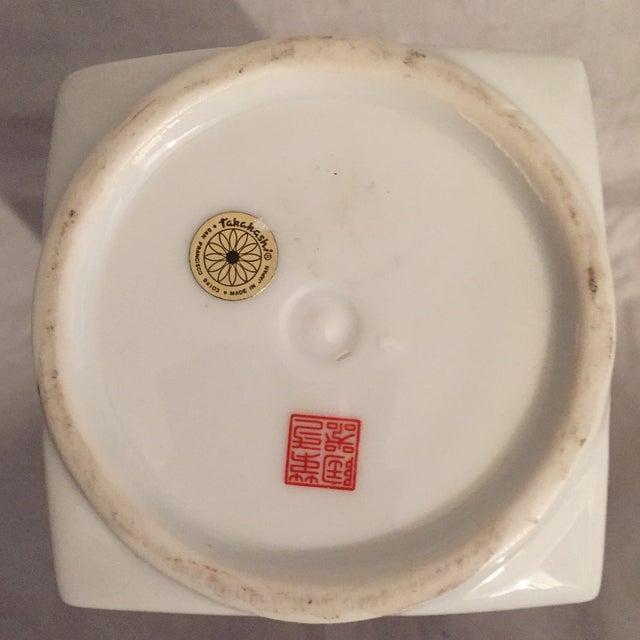 Blue Traditional Japanese Porcelain Column Vase For Sale - Image 8 of 8
