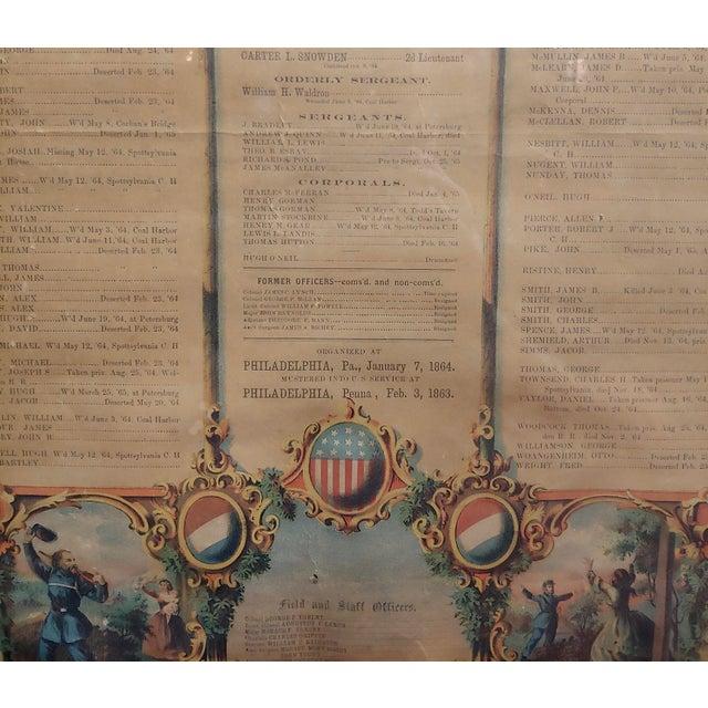 19th Century Civil War 1864 Military Register Pennsylvania Company E Manifesto For Sale - Image 5 of 9
