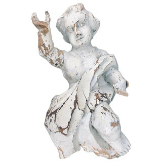 17th Century Baroque Hand-Carved Putto Ecclesiastical Corbel For Sale