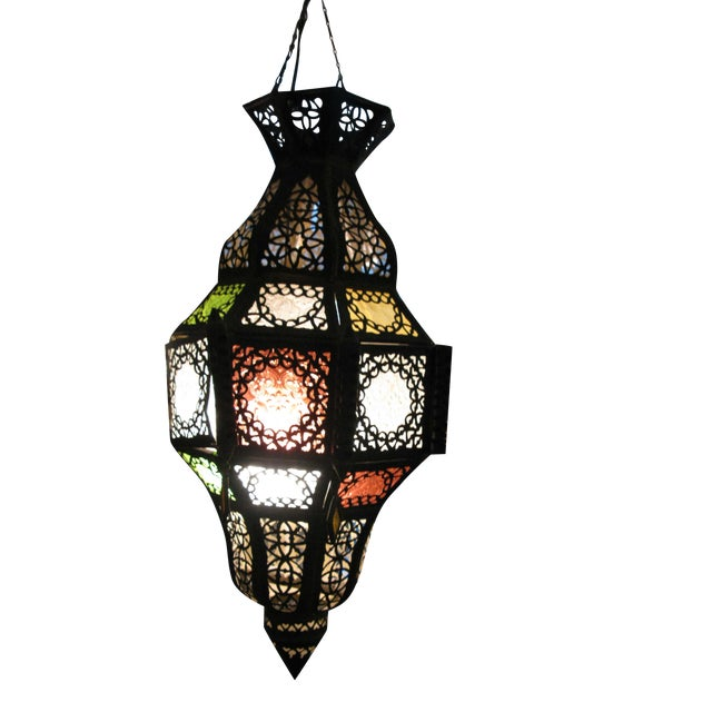 Antique Hanging Moroccan Lanterns - A Pair - Image 1 of 9
