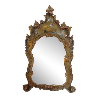 18th Century Chinoiserie Painted Italian Mirror For Sale