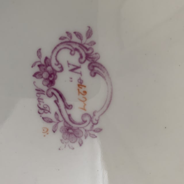 Pink Antique English Minton Chinoiserie Shallow Dinner Bowls- Set of 8 For Sale - Image 8 of 11