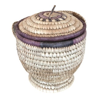 Nigerian Woven Seagrass Baskets For Sale