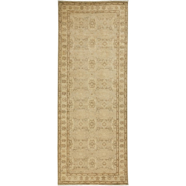 """Oushak, Hand Knotted Runner - 3'4"""" X 9'9"""" For Sale"""