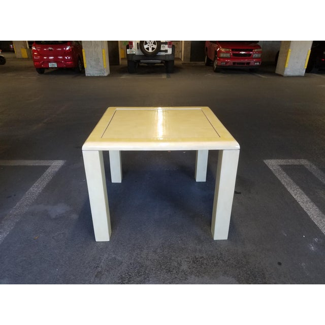 1970's tessellated bone gaming table sold as found in vintage condition without damage.