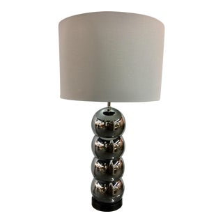 Mid-Century Chrome Stacked Ball Table Lamp