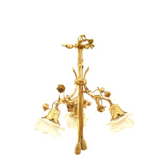 French Louis XVI Style Gilt Bronze Chandelier For Sale