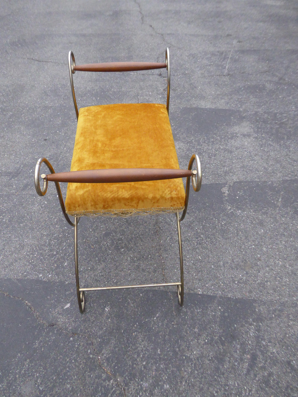 Superieur Vintage Hollywood Regency Gold Velvet Vanity Chair For Sale In Los Angeles    Image 6 Of