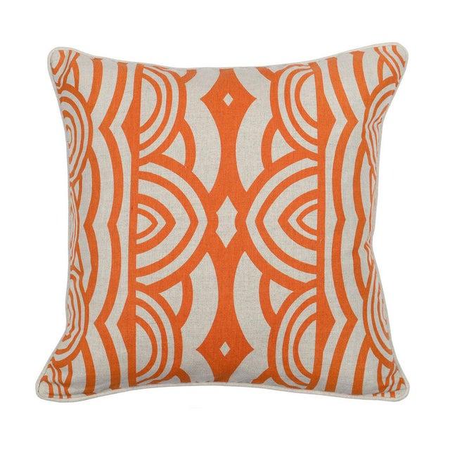 Modern Orange Down Pillow - Image 2 of 2