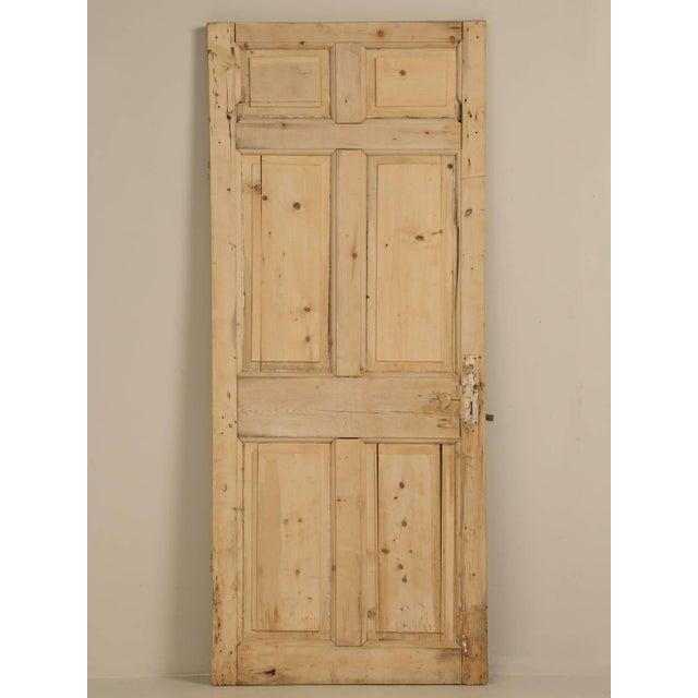 Antique Irish Scrubbed Pine Interior Door For Sale - Image 10 of 10
