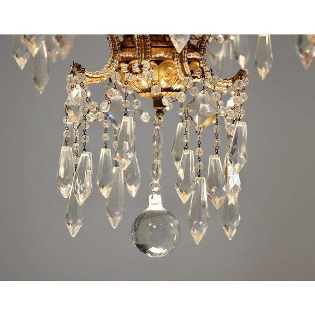 Metal 1940s Italian Crystal Beaded Chandelier For Sale - Image 7 of 9