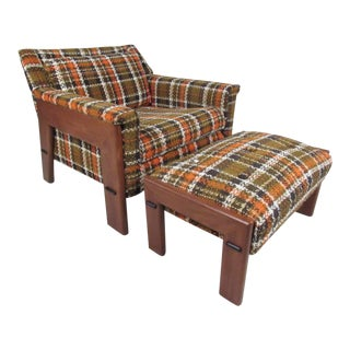 Adrian Pearsall Style Lounge Chair and Ottoman For Sale