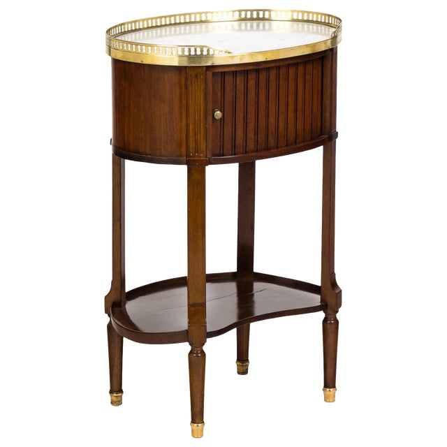 Louis XVI Marble-Top Mahogany Side Table - Image 1 of 10
