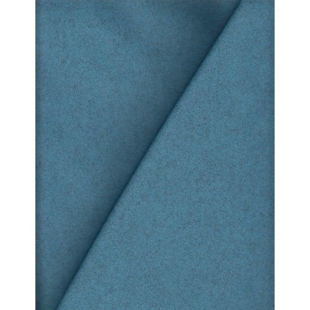 Maharam Kvadrat Blue Divina Melange Wool Fabric - 3.375 Yards - Image 1 of 2
