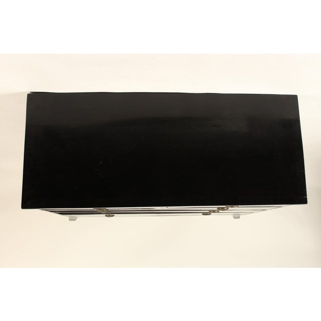 George III Ebonized Chest of Drawers For Sale - Image 9 of 13
