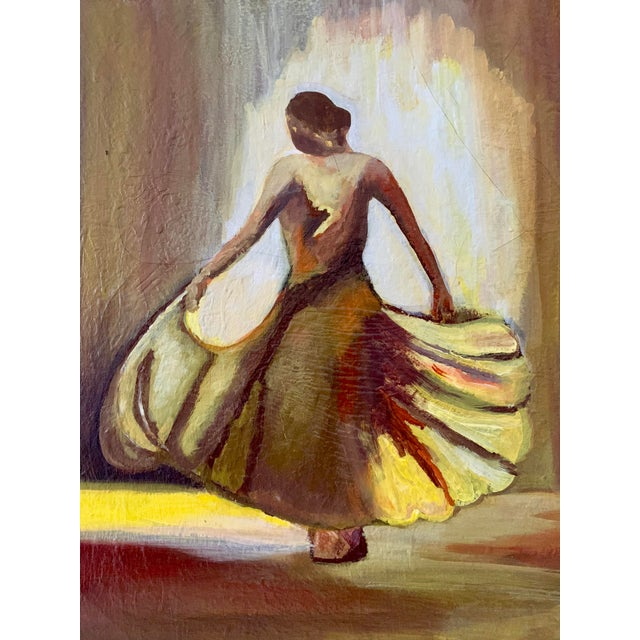 A gorgeous oil on canvas portrait of a female dancer. Reasonable offer will be considered. Local Pickups - Items need to...