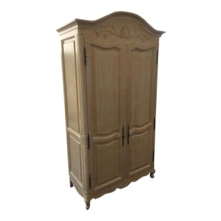 Whitewashed Bar Armoire