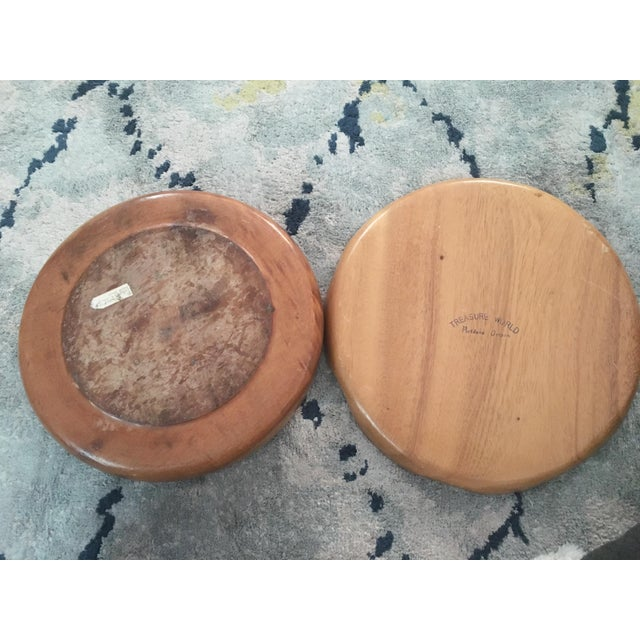 Handmade Wooden Tray - A Pair - Image 4 of 11