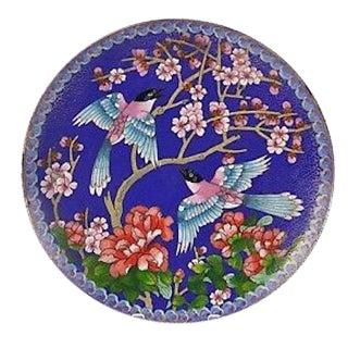 Chinese Cloisonné Decorative Enamel Plate For Sale