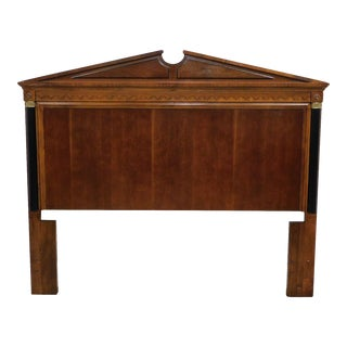Biedermeier Style Cherry Size Headboard For Sale