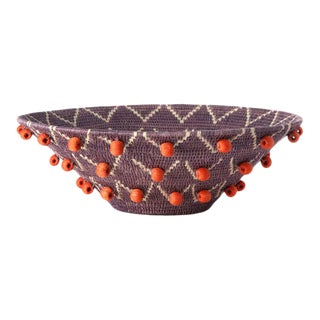 Wing Large Basket Lilac/cream/ Tangerine For Sale