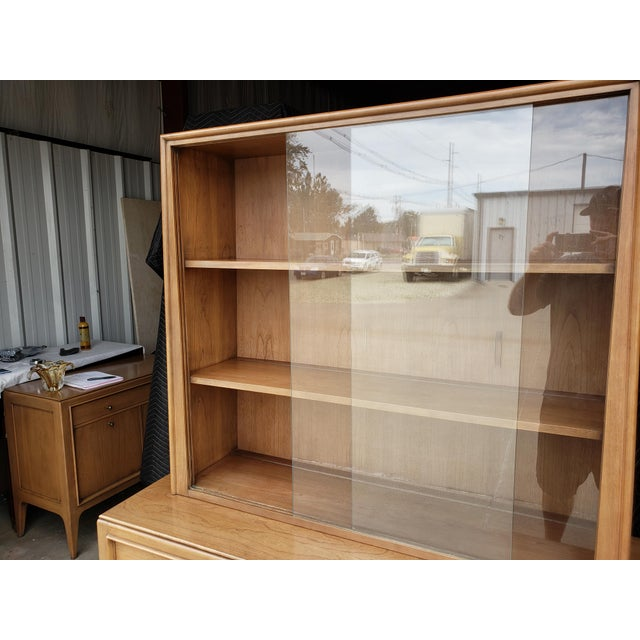 Metal Vintage 1960's Century Furniture China Cabinet For Sale - Image 7 of 10