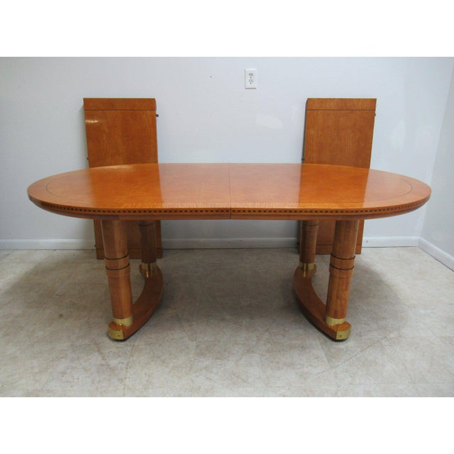 Biedermeier Hickory White Genesis Neo Classical Dining Room Table