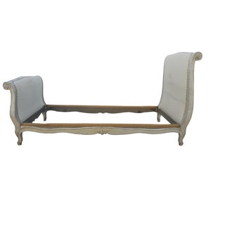 Antique French Paris Gauffé Gray Louis XVI Daybed Twin Bed Preview