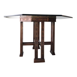 Vintage Chinoiserie/Chinese Chippendale Style Dining Table For Sale