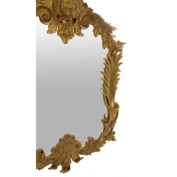 A Pair of Large George III Style Gilt Wood Mirrors For Sale - Image 4 of 5
